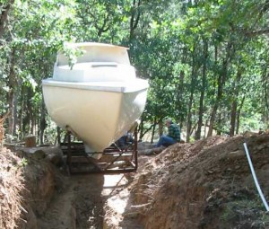 Root Cellar Boat Going Into Hole