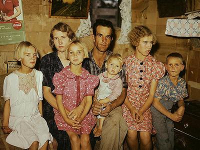 Depression Era family