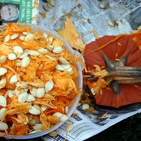 How to Roast Pumpkin Seeds – 10/26/11