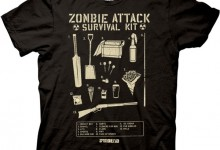 Shaun of the Dead Zombie Attack Survival Kit Mens T-shirt